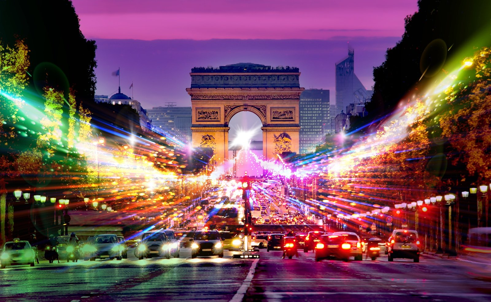 Paris light trails-1