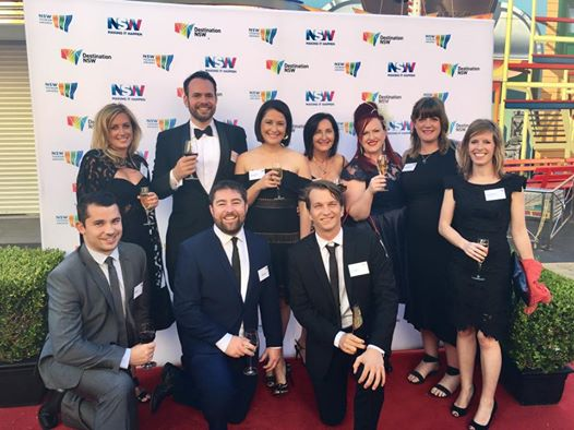 Some of the Booking Boss team at the 2016 NSW Tourism Awards