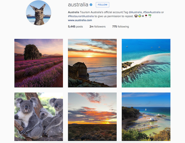 Tourism Australia's entire strategy revolves around user generated content